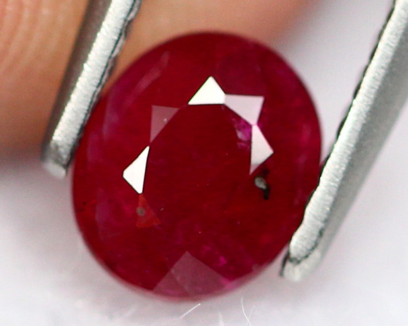 0.75ct Natural Blood Red Color Burmese Ruby Oval Cut Lot GW8386
