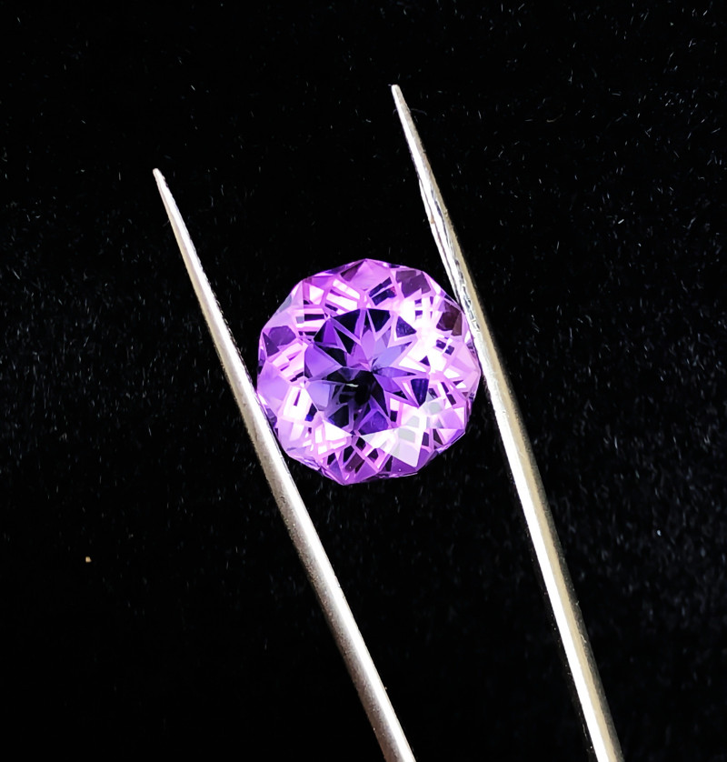 7.45 Ct Natural Purple Transparent Flower Cut Amethyst Gemstone