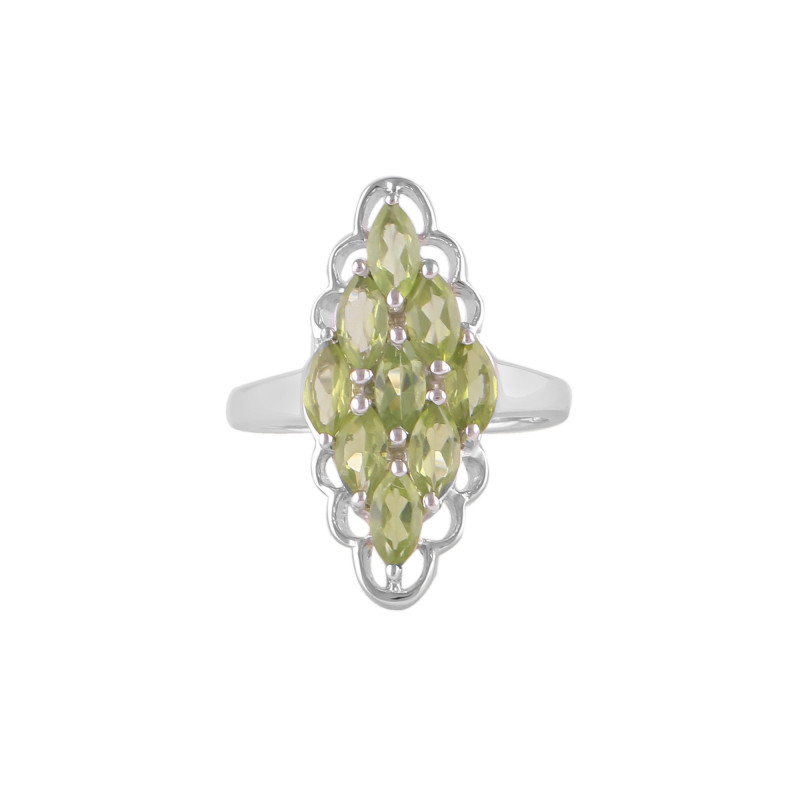 Peridot 925 Sterling silver ring #36352
