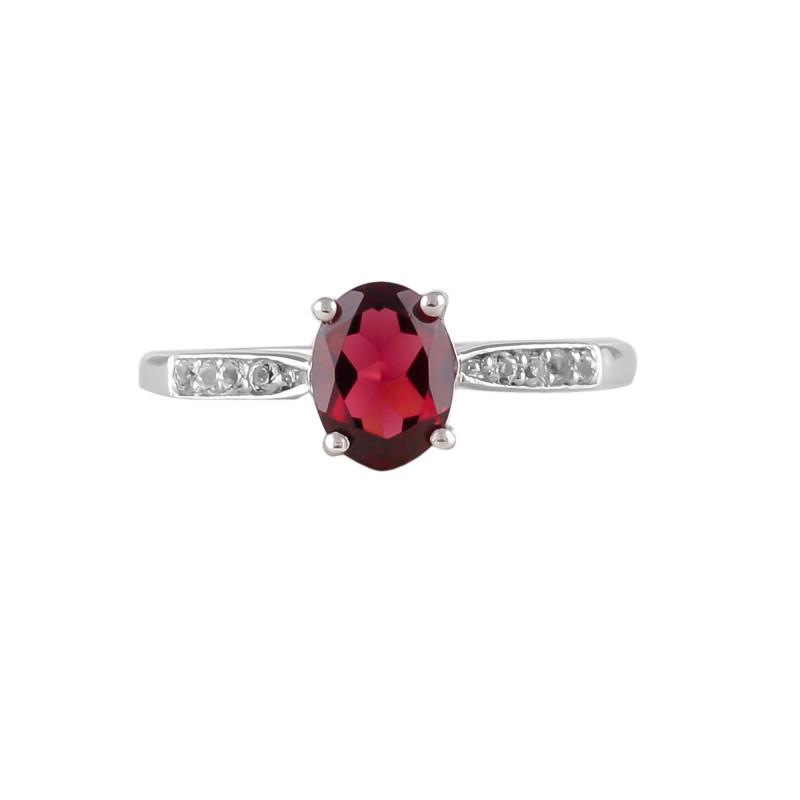 Garnet 925 Sterling silver ring #36468