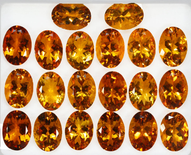 103.20Cts Natural Citrine Oval Calibrated Parcel 16 X 12mm