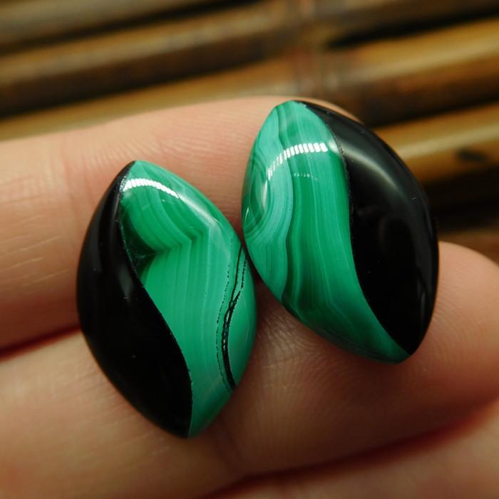 New design malachite earring jewelry stud (14)