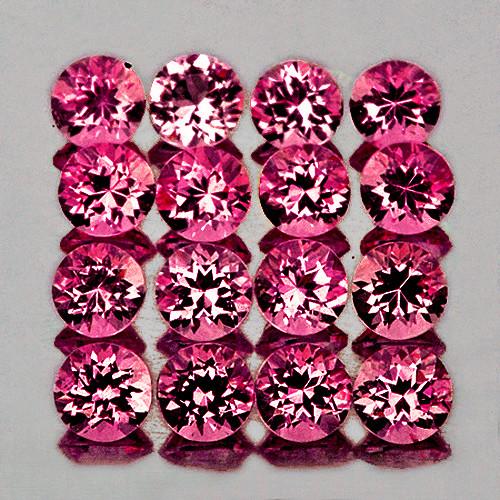 1.50 mm Round 80 pcs 1.48cts Cherry Pink Rhodolite Garnet [VVS]