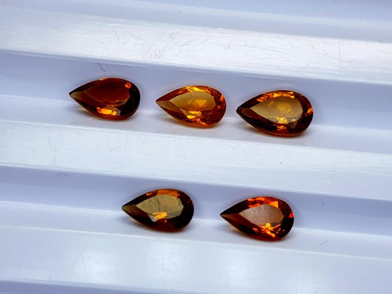 2.75Crt Madeira Citrine Lot Natural Gemstones JI19