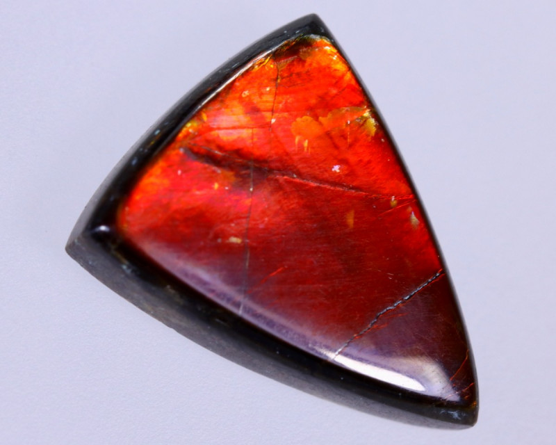 15x11mm,  5.84cts Natural Canadian Ammolite Stone / MA1735