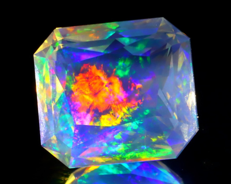3.37Ct ContraLuz Aurora Precision Master Cut Very Rare Species Opal C1910