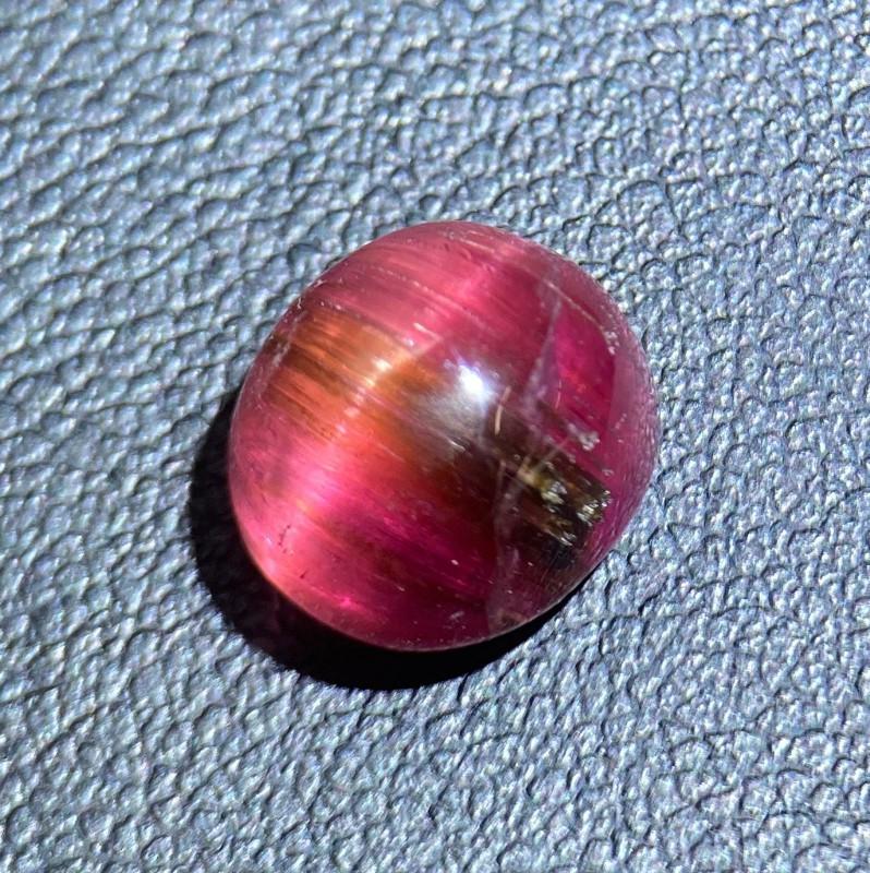 Tourmaline Cat's eye 4.08 Cts Red Cabochon BGC1206