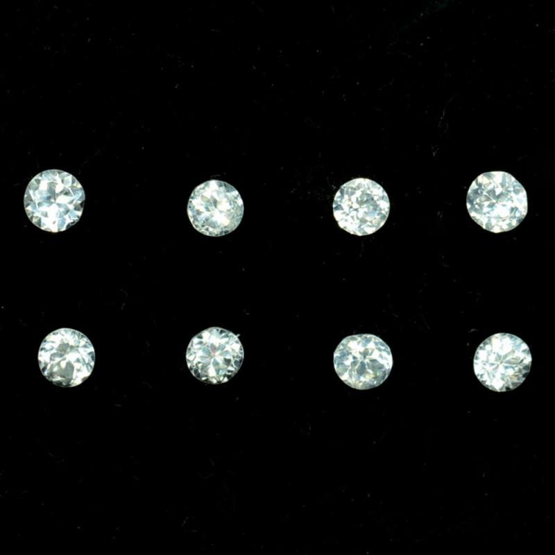 1.02 Cts Natural White Zircon 3.00 mm Diamond Cut Parcel