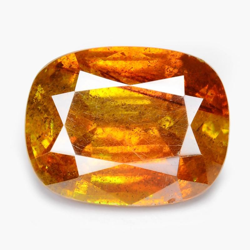 Sphalerite 4.52 Cts Natural Rare Top Fired Sunset Orange Gemstone