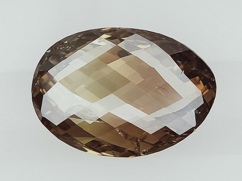 0.68 cts, Unique Rare Chequered Diamond , Uneven Color Diamond