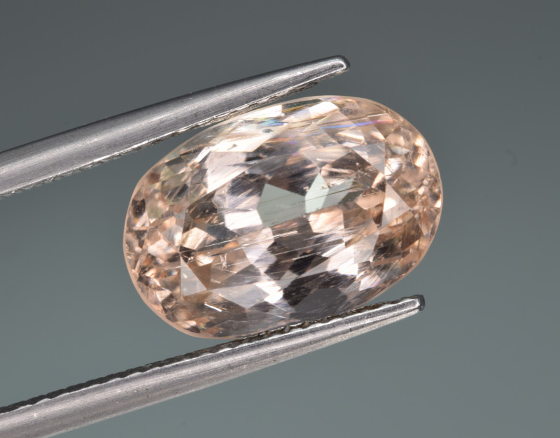 Natural Imperial Topaz 6.56 Cts Faceted Gemstone from Katlang, Pakistan