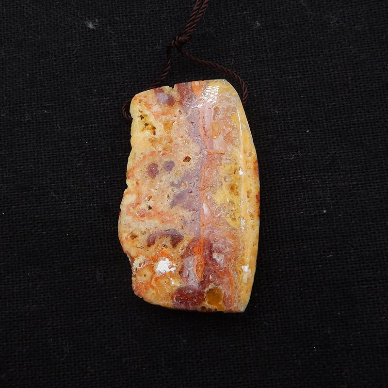 61.5cts yellow opal Stone Pendant, Raw opal Healing stone H1989
