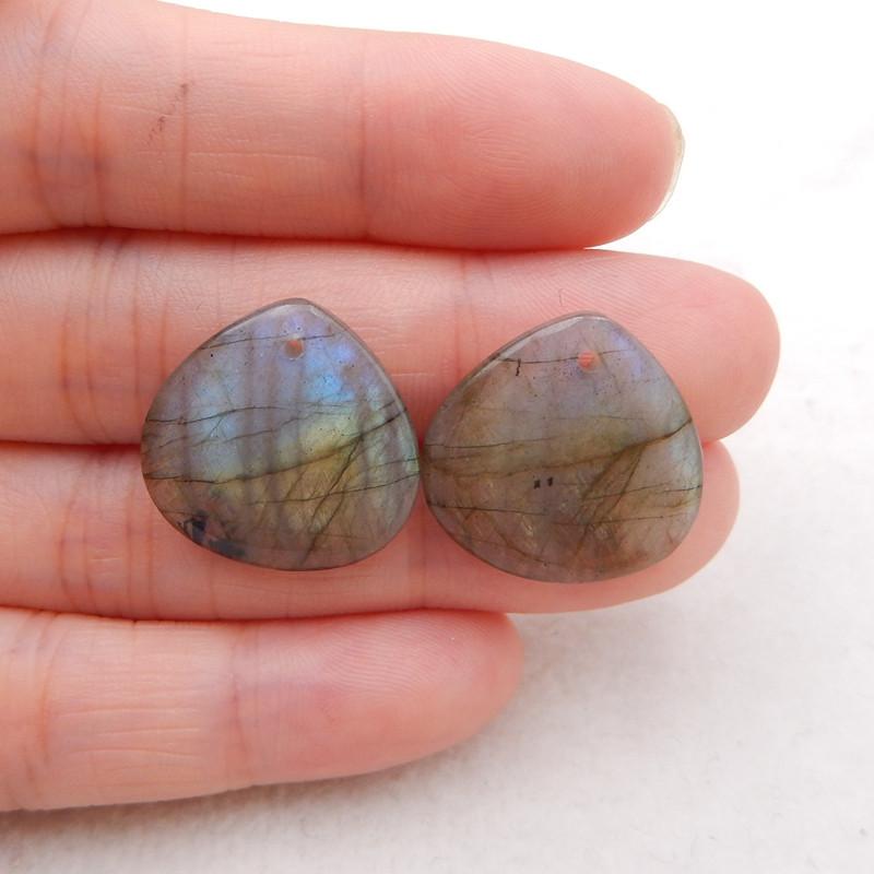19cts flash labradorite ,handmade gemstone ,labradorite beads h1997