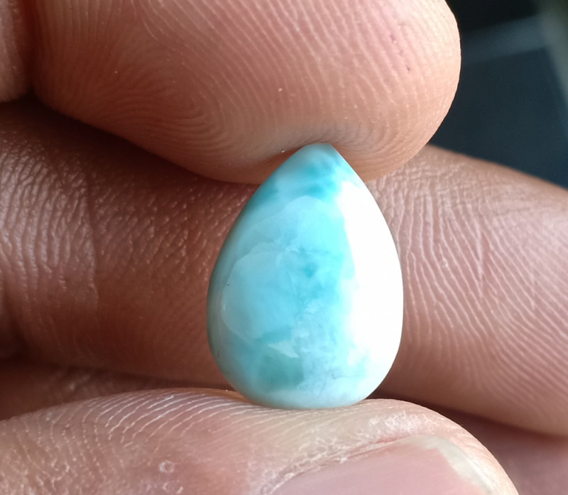 Natural Larimar Genuine Gemstone Cabochon VA5916