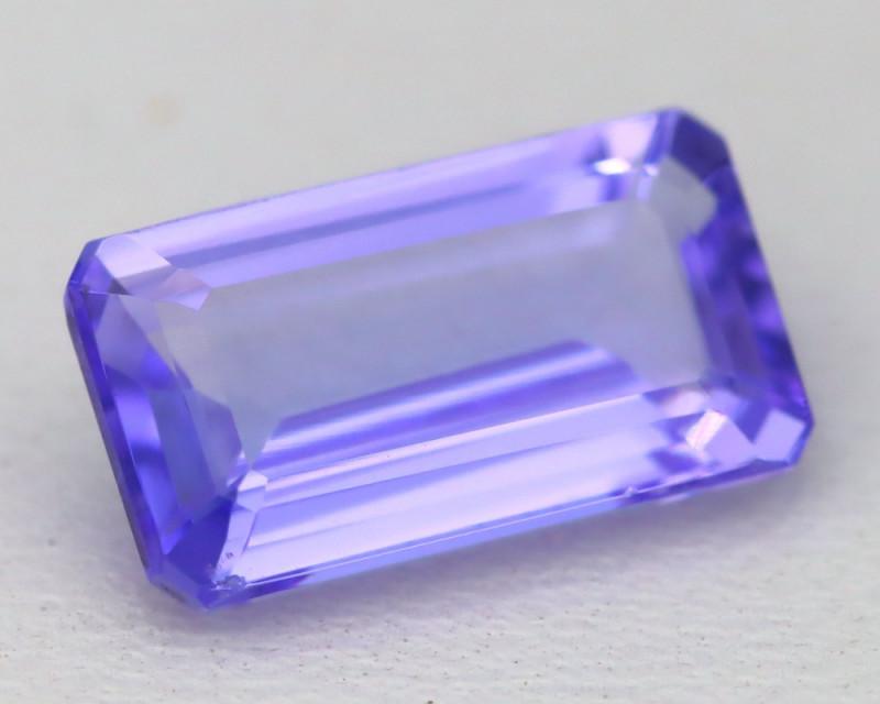 3.22Ct VVS Octagon Cut Natural Purplish Blue Tanzanite C2512