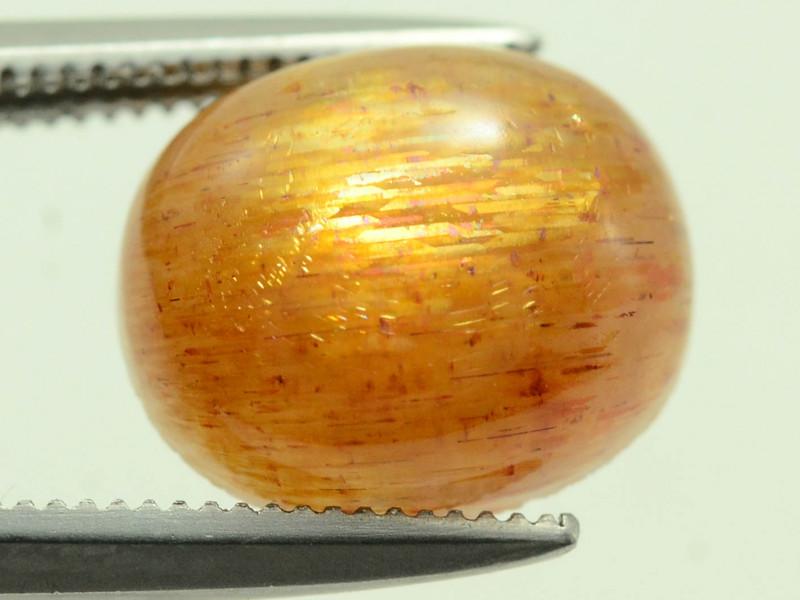 Rare 3.15 ct Needle Sunstone Cabochon Oregon Mine