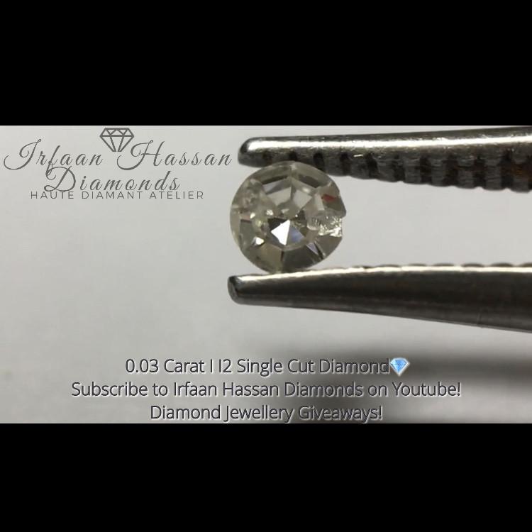0.03 ct I I2 Single Cut Round Diamond