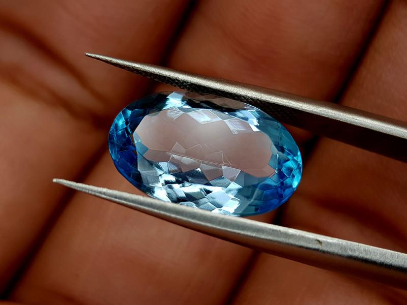 8.65Crt Blue Topaz Natural Gemstones JI26