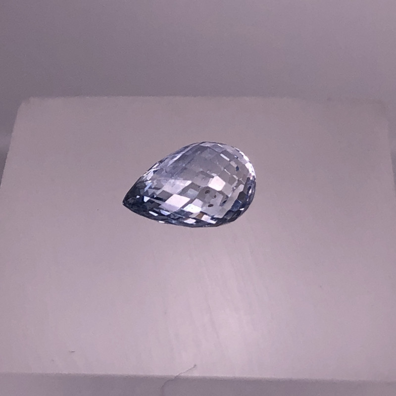 1.96cts Precision  Drop Cut CEYLON Blue Sapphire Gemstone