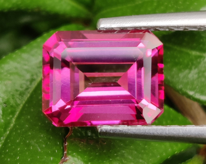 4.40 CTS SUPERIOR! TOP QUALITY OCTOGON CUT HOT PINK-TOPAZ GENUINE NR