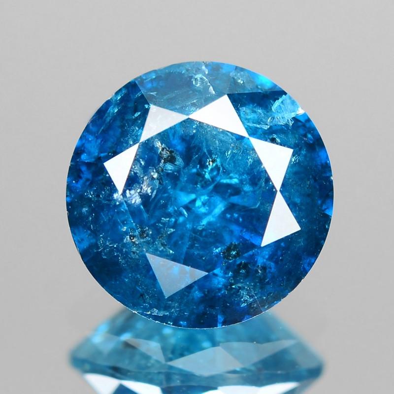 *NoReserve*Diamond 1.10 Cts Sparkling Rare Fancy Blue Color Natural