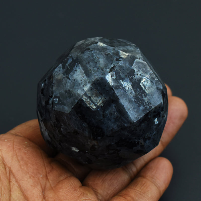Exclusive Larvikite Faceted Healing Ball New & Rare
