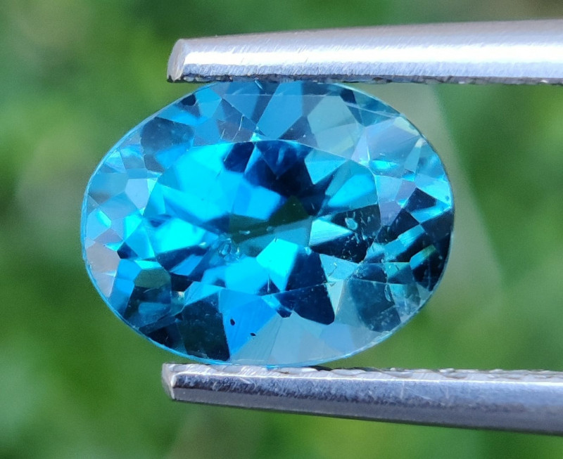 2.30 CTS~EXCELLENT OVAL CUT LONDON BLUE NATURAL TOPAZ NR!!