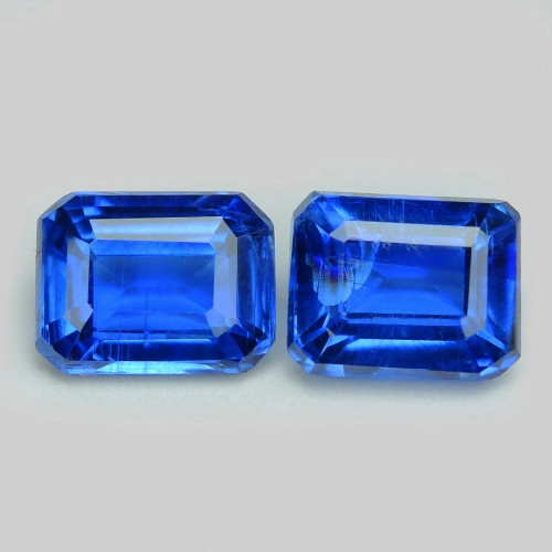 Kyanite 1.11 Cts 2pcs Fancy Royal Blue Color Natural Gemstone