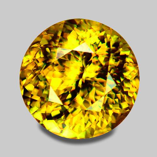 Exquisite high gem natural Madagascan yellow sphene.