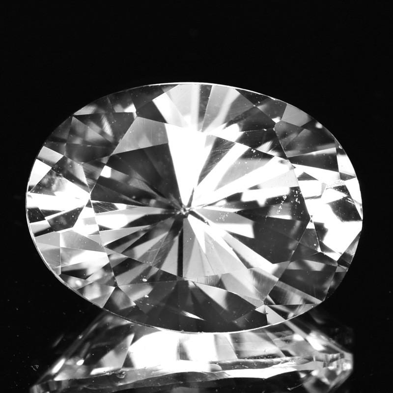 ~STUNNING~ 3.14 Cts Natural Danburite Oval Diamond Cut Danbury-USA