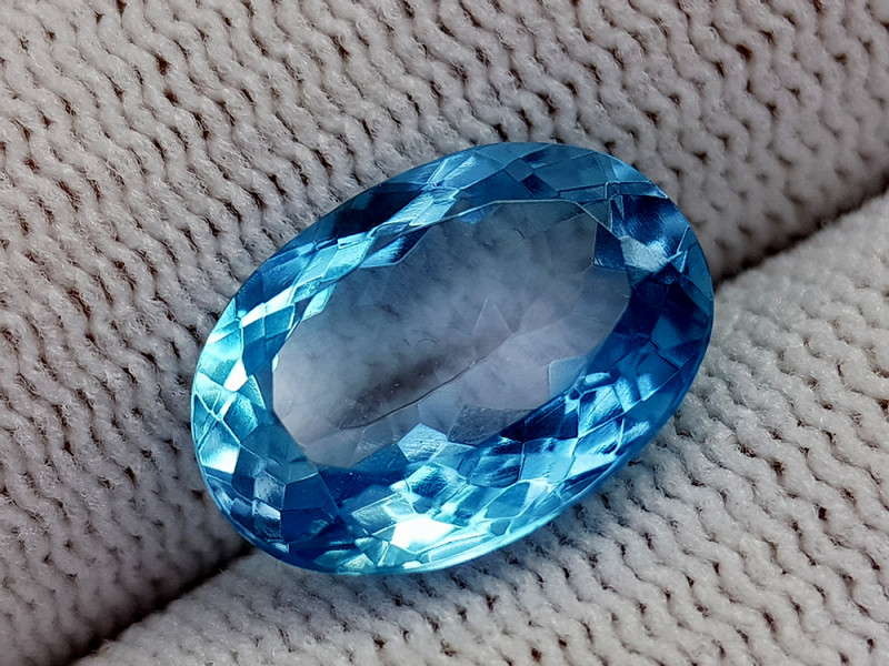 7.22CT BLUE TOPAZ BEST QUALITY GEMSTONE IIGC35