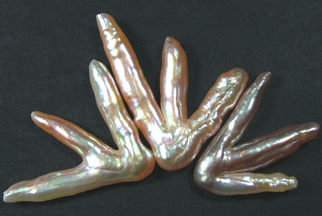 'CHICKEN FEET' KESHI PEARLS  -HIGH LUSTER  37CTS [PF357]