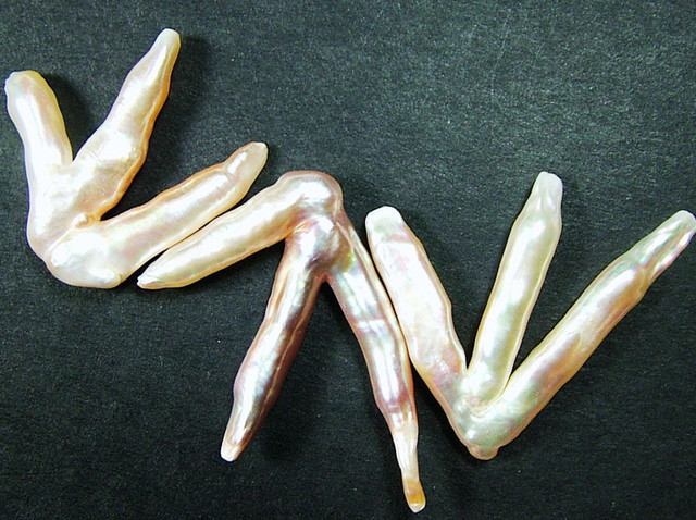 'CHICKEN FEET' KESHI PEARLS  -HIGH LUSTER  40CTS [PF412]
