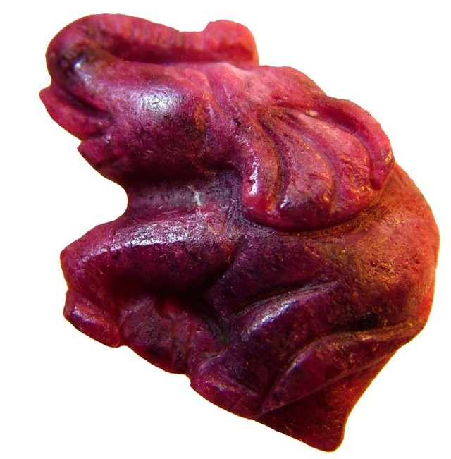 LARGE RUBY ELEPHANT CARVING 41.49 CTS [MX4448 ]