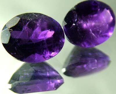 DARK AMETHYST PAIR  FROM NAMBIA  10X5 MM    5.45 CTS [TS472]