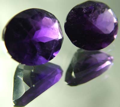 DARK AMETHYST PAIR  FROM NAMBIA  10X5 MM   5.25 CTS [TS473]