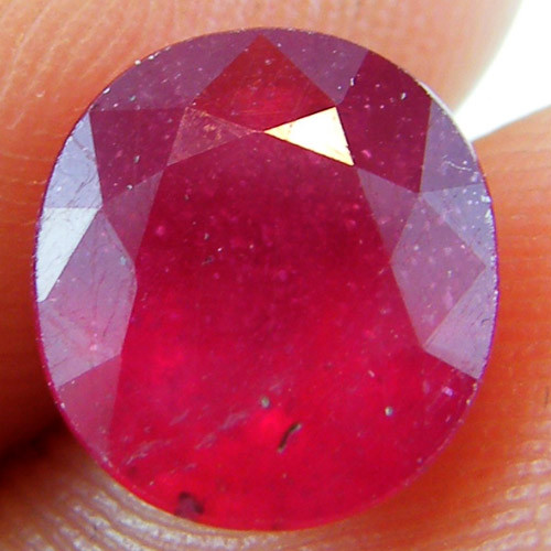 FACETED RASBERRY REDRUBY  2.55 CT RM 572