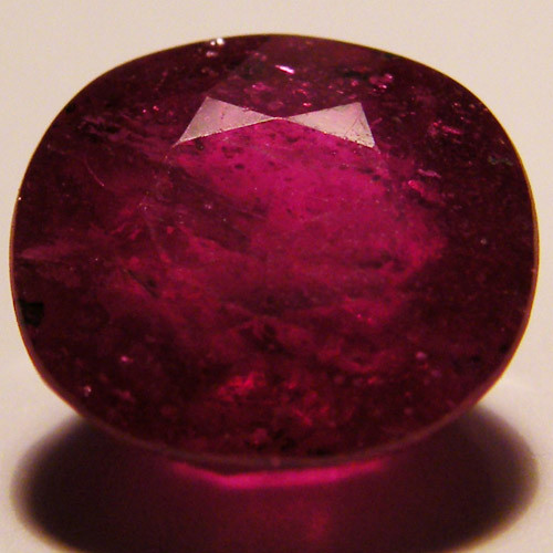 FREE HIPPING FACETED RASBERRY RED RUBY  5 CTS RM 575