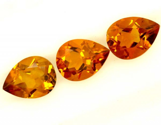 CITRINE NATURAL FACETED HIGH CLARITY 3CTS ADG-610