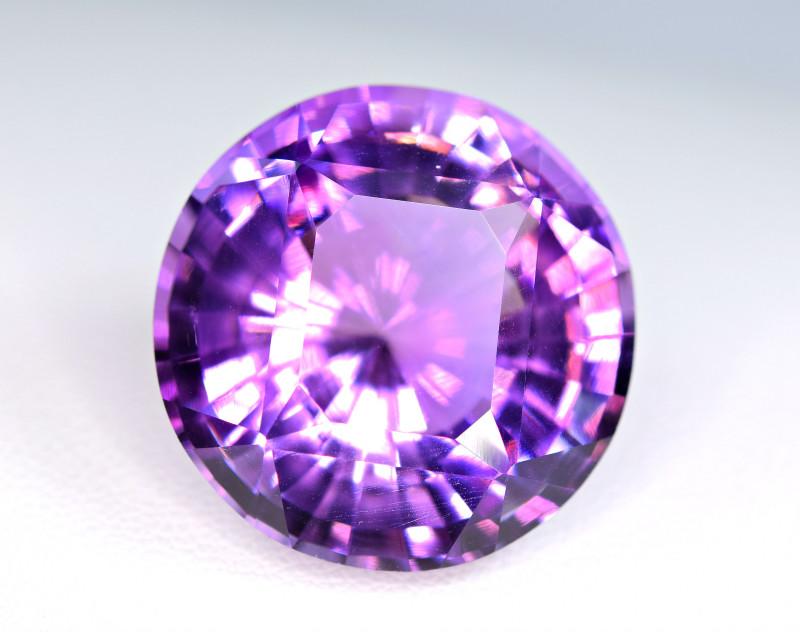 41.66 Carat Round Amethyst Top Fancy Cut Gemstone