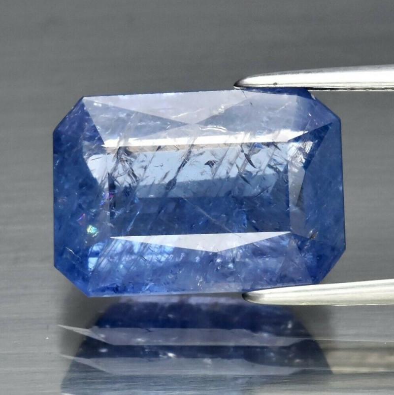 Blu Zaffiro Naturale  6.57ct Octagon non riscaldata