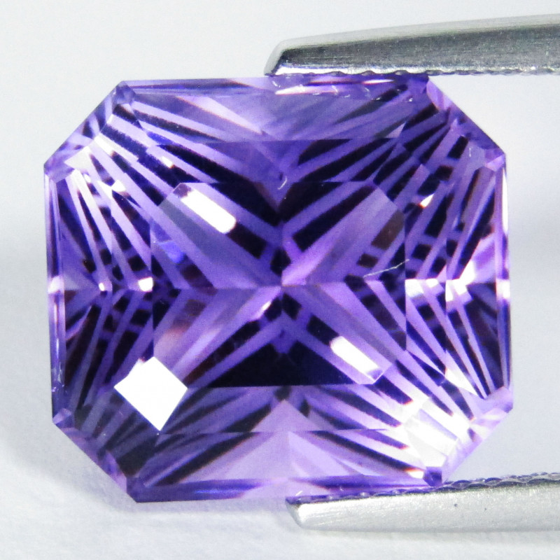 8.74Cts Unique Ultra Quality Natural Amethyst Radiant Cut Loose Gem  VIDEO