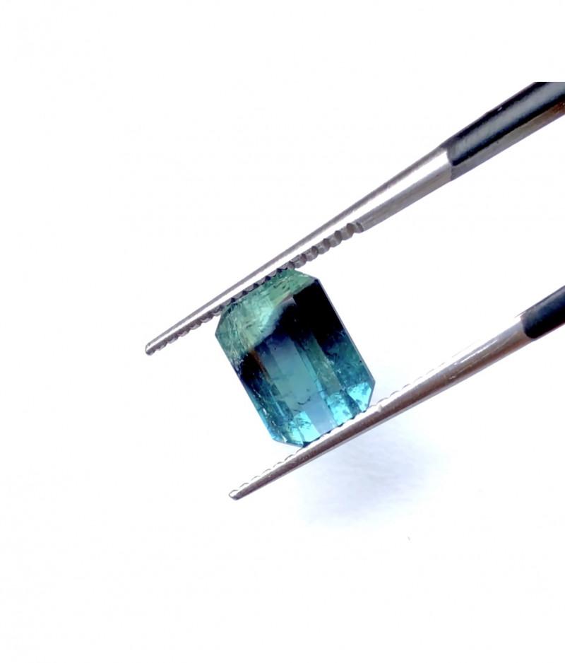 2.90 Carats Natural Tri Color Tourmaline Cut Stone