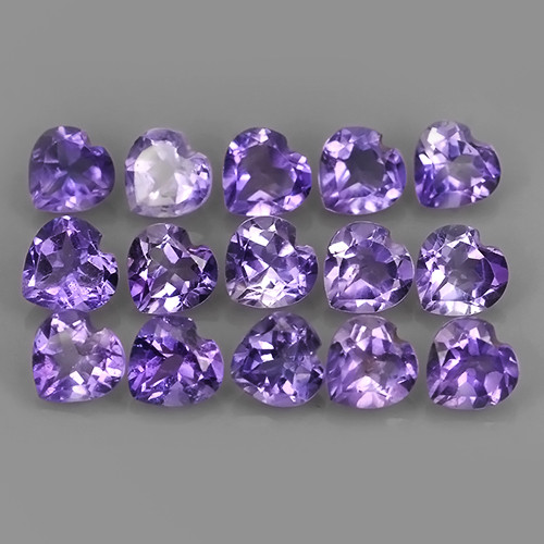 6.30 CTS AWESOME NATURAL AMETHIYST HEART COLLECTION GEM!!