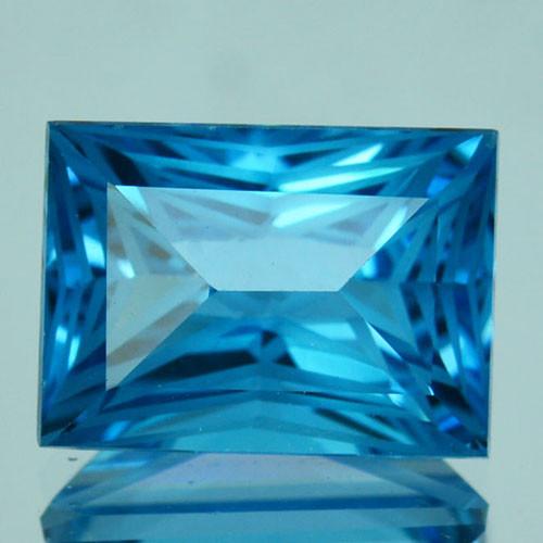 ~CUSTOM CUT~ 4.06 Cts Natural Swiss Blue Topaz Fancy Cut USA