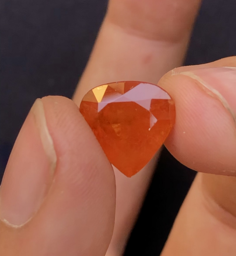 Fanta Color Beautiful Eye Catching Color 9.65 Ct Natural Orange Color Spess
