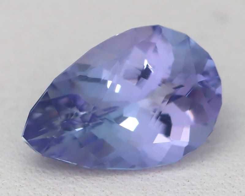 1.56Ct VVS Master Pear Cut Natural Purplish Blue Tanzanite C0909