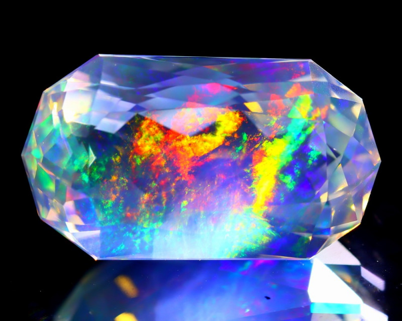 9.94Ct ContraLuz Precision Cut Mexican Very Rare Species Opal C0914