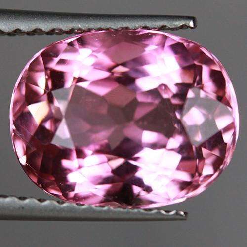 3.26CT 10X8MM Bright Pink Excellent Cut Mozambique Tourmaline-TA65