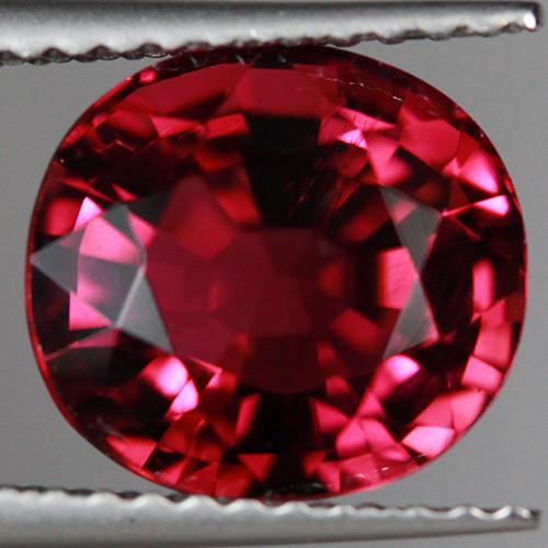 3.28CT 9X8MM Rosewood Pink Excellent Cut Mozambique Tourmaline-TA69